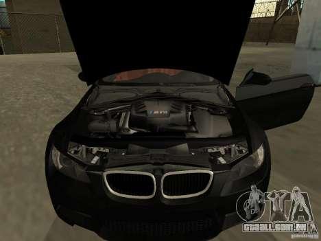 BMW M3 E92 Tunable para GTA San Andreas traseira esquerda vista
