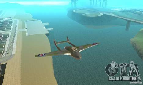 De-Havilland-Vampire ver 2.0 para GTA San Andreas vista interior