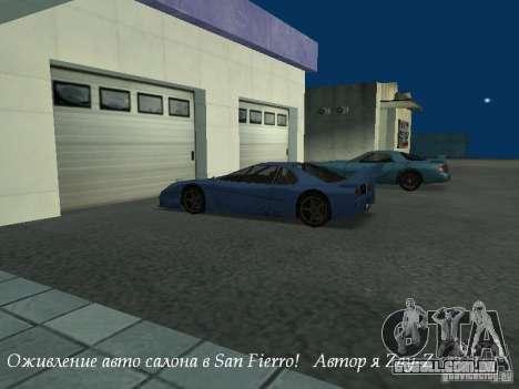 Trabalho showroom em San Fierro v1 para GTA San Andreas
