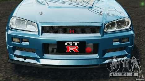 Nissan Skyline GT-R R34 2002 v1.0 para GTA 4 rodas