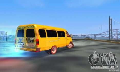 Gazela 2705 Minibus para GTA San Andreas traseira esquerda vista