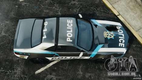 NFSOL State Police Car [ELS] para GTA 4 vista direita