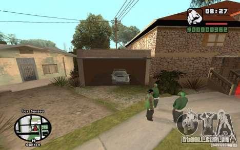 New CJs House para GTA San Andreas por diante tela