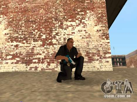 Chrome and Blue Weapons Pack para GTA San Andreas sétima tela