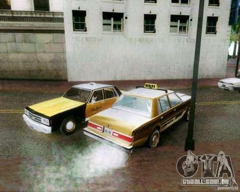 Chevrolet Impala 1986 Taxi Cab para GTA San Andreas vista superior