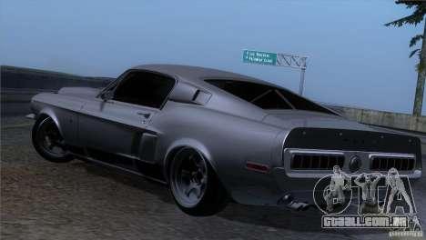 Shelby GT500 1969 para GTA San Andreas vista traseira