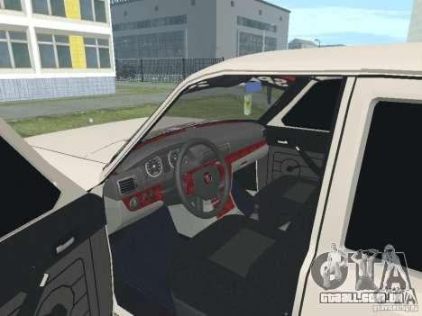 GAZ-24 Volga 105 para GTA San Andreas vista traseira