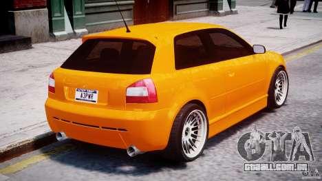Audi A3 Tuning para GTA 4 interior