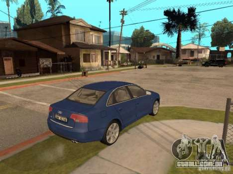 Audi S4 para GTA San Andreas vista interior