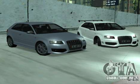 Audi S3 Full tunable para GTA San Andreas vista direita