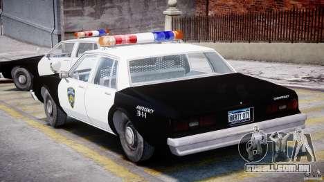 Chevrolet Impala Police 1983 para GTA 4 vista direita