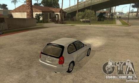 Toyota Corolla G6 Compact E110 JP para GTA San Andreas vista direita