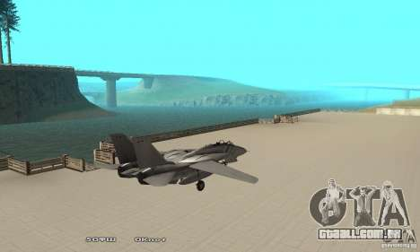 F14W Super Weirdest Tomcat Skin 1 para GTA San Andreas traseira esquerda vista