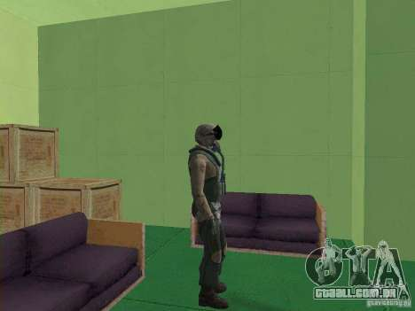 Piloto militar para GTA San Andreas por diante tela