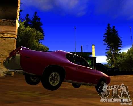 Pontiac GTO 1969 para GTA San Andreas traseira esquerda vista