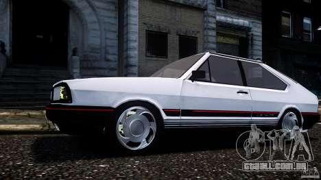 Volkswagen Passat Pointer GTS 1988 Turbo para GTA 4 traseira esquerda vista