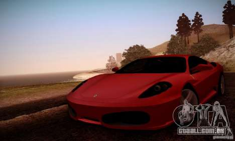 Ferrari F430 v2.0 para GTA San Andreas vista superior