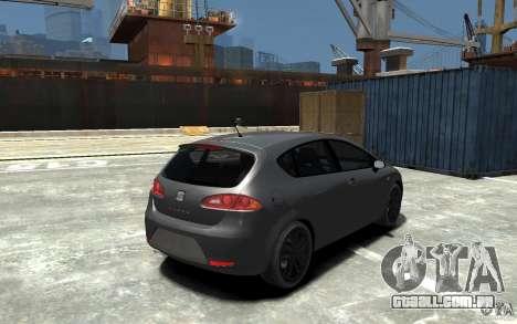 Seat Leon Cupra v.2 para GTA 4 vista direita