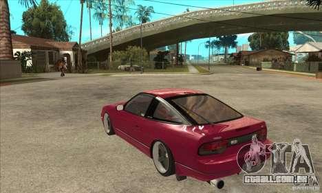 Nissan 240SX Zenki para GTA San Andreas traseira esquerda vista