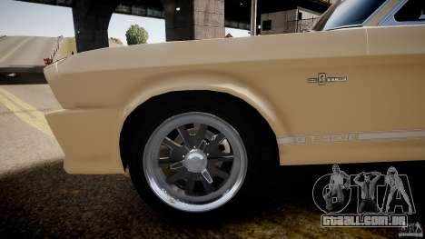 Shelby Mustang GT500 Eleanor v.1.0 Non-EPM para GTA 4 vista de volta