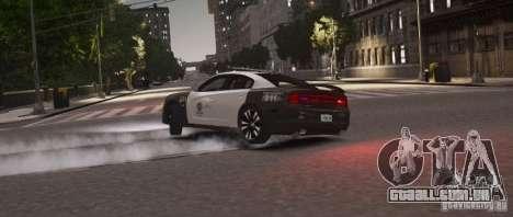 Dodge Charger 2011 Police para GTA 4 traseira esquerda vista