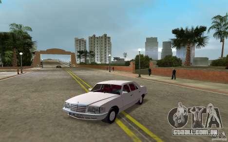 Mercedes-Benz W126 500SE para GTA Vice City vista traseira esquerda