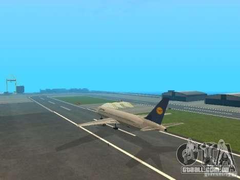 Boeing 767-300 Lufthansa para GTA San Andreas vista direita