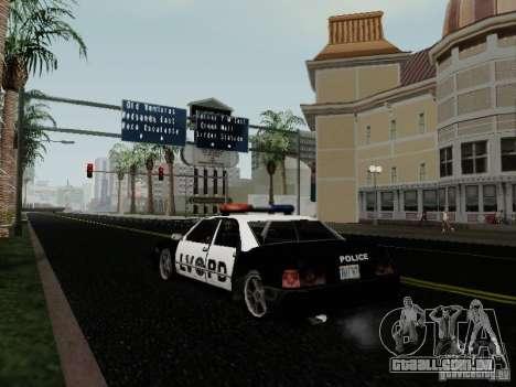 Sunrise Police LV para GTA San Andreas traseira esquerda vista