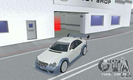Mercedes-Benz CLK DTM AMG para GTA San Andreas vista traseira