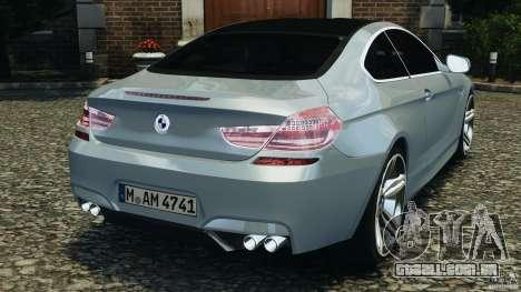 BMW M6 Coupe F12 2013 v1.0 para GTA 4 traseira esquerda vista