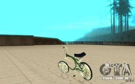 Custom Bike para GTA San Andreas traseira esquerda vista