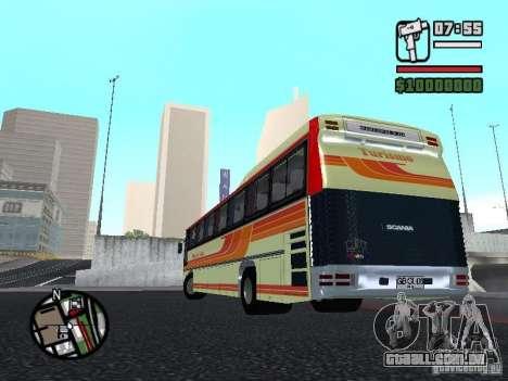 MARCOPOLO III SCANIA 112 para GTA San Andreas vista interior