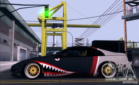Nissan 300ZX Bad Shark para GTA San Andreas vista traseira