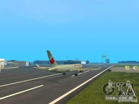 Boeing 767-300 Air Canada para GTA San Andreas vista interior