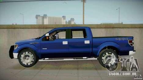 Ford Lobo Lariat Ecoboost 2013 para GTA San Andreas esquerda vista