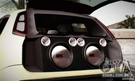 Fiat Punto Evo 2010 Edit para GTA San Andreas vista superior