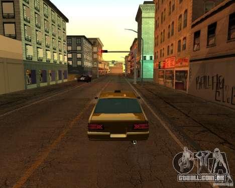 Azik Taxi para GTA San Andreas esquerda vista