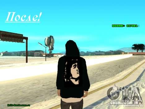 Roupas com Victor Coem para GTA San Andreas por diante tela