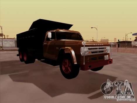 Dodge Dumper para GTA San Andreas esquerda vista