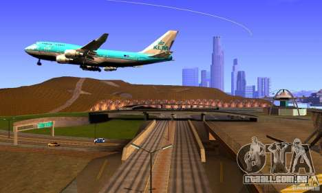 Boeing 747 KLM para GTA San Andreas vista direita