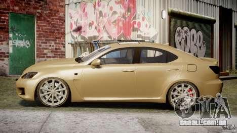 Lexus IS F para GTA 4 esquerda vista
