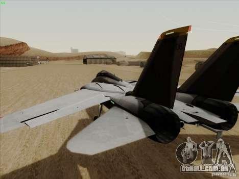 F-14 Tomcat Warwolf para GTA San Andreas vista direita