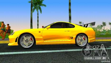 Toyota Supra JZA80 C-West para GTA Vice City vista direita