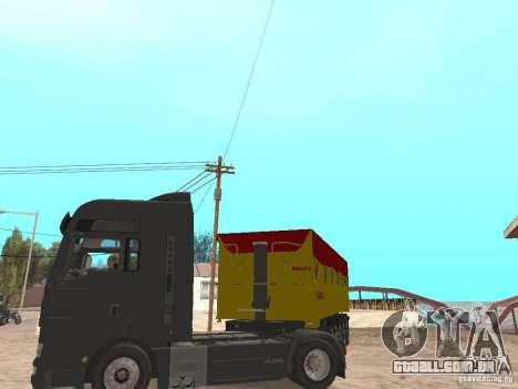 Reboque basculantes para GTA San Andreas vista traseira
