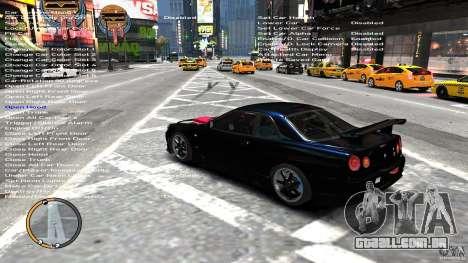 Nissan SkyLine R34 GT-R V-spec II para GTA 4 traseira esquerda vista