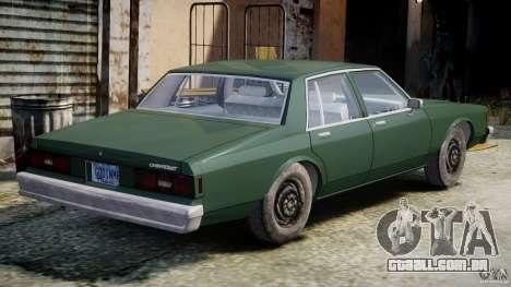 Chevrolet Impala 1983 v2.0 para GTA 4 vista direita