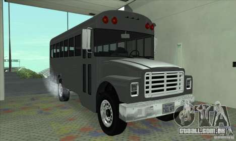 Civil Bus para GTA San Andreas esquerda vista