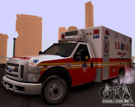 Ford F-350 F.D.N.Y para GTA San Andreas