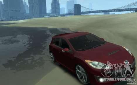 Mazda 3 MPS 2010 para GTA 4 vista de volta