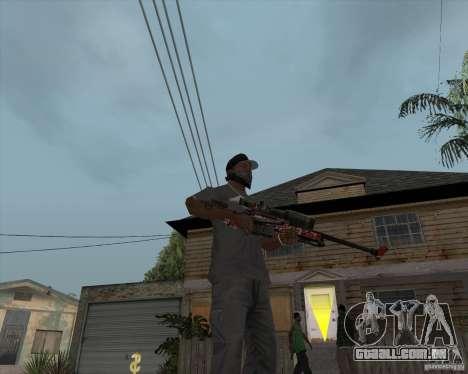 Accuracy International L96A1 para GTA San Andreas segunda tela